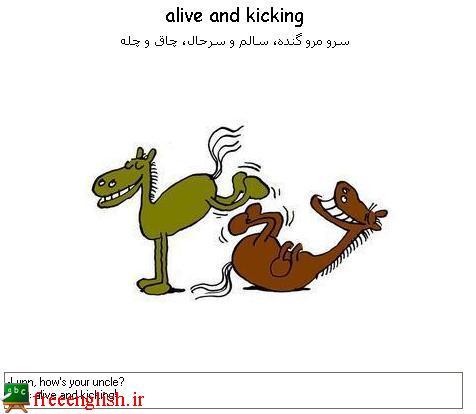 سالم و سر حال alive and kicking