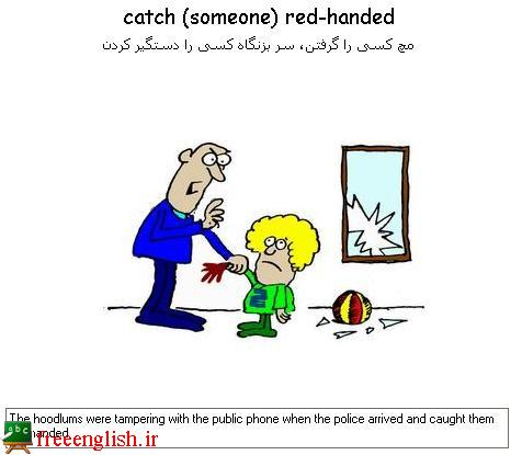 مچ کسی را گرفتن catch someone red-handed