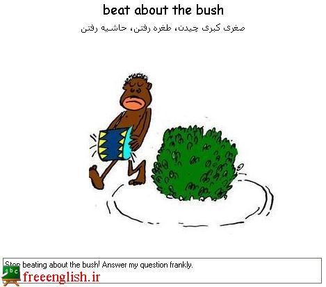 حاشیه رفتن beat about the bush